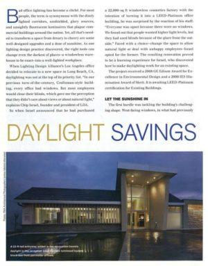 Let The Sunshine In Lighting Design Alliance Office